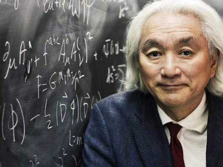 Michio Kaku at the Chalkboard